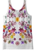 Floral Print Top - Back
